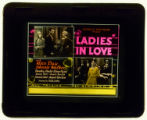 Motion picture theater advertising slide, LADIES IN LOVE, 1930