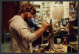 Dave Wogh during production of EVIL DEAD 2: DEAD BY DAWN, 1987